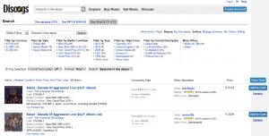 Acheter des vinyles d'occasion sur Discogs