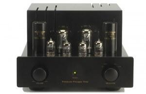 Un Amplificateur haut de gamme à lampes (ou à tubes) de la marque Prima Luna