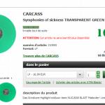 Carcass Symphonies of Sickness 200 exemplaires vinyle vert