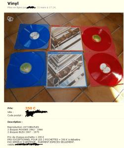 Vinyles des Beatles tres chers