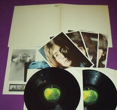 Un album blanc des Beatles, prix de vente 20€
